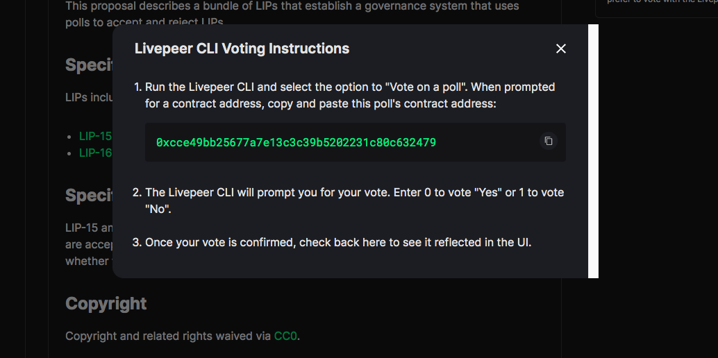 LivepeerCLIVoteInstructions